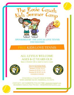 Free Tennis Camps